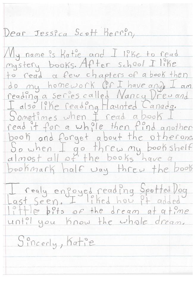 Letter - Katie